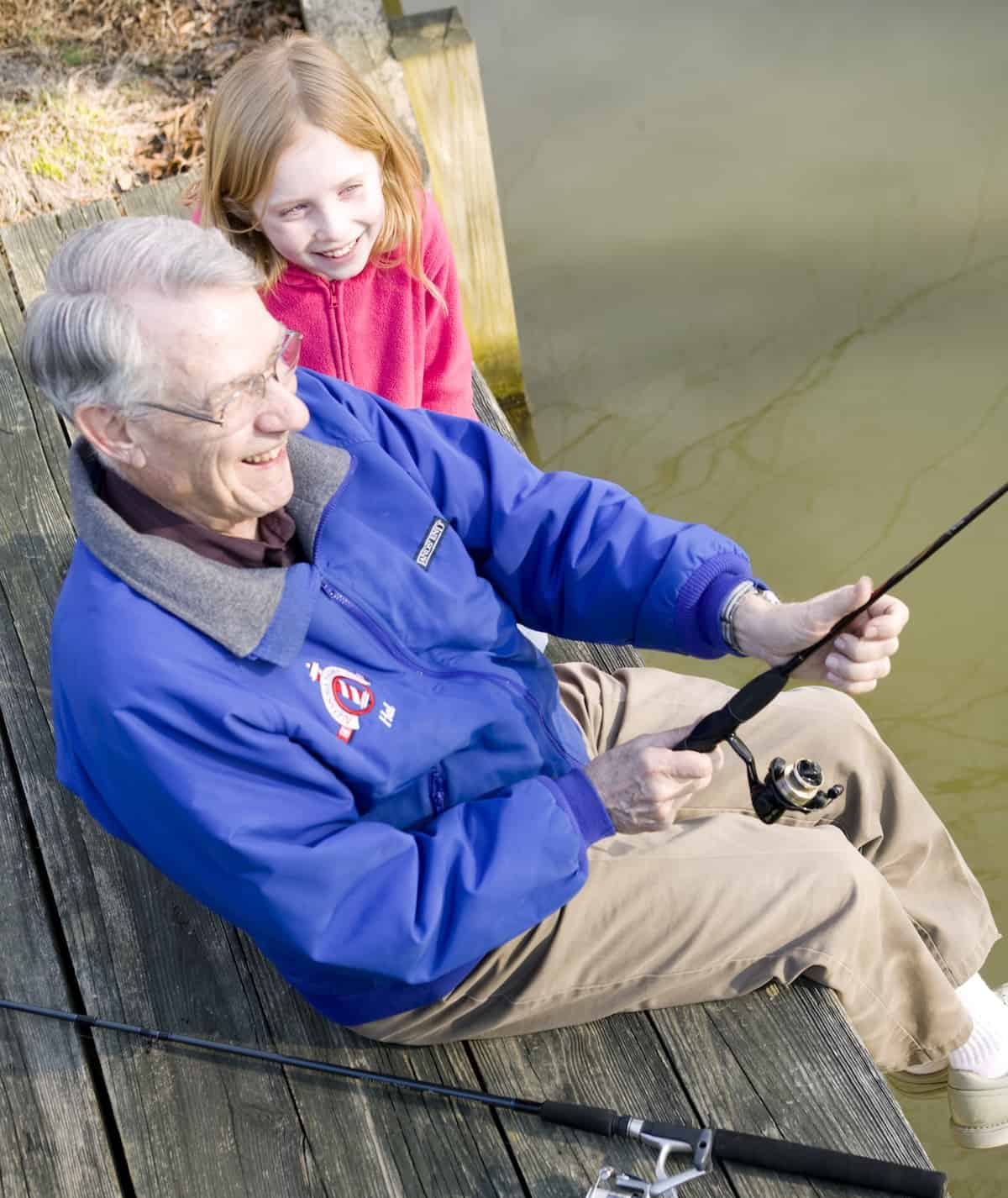 resident fishing with child