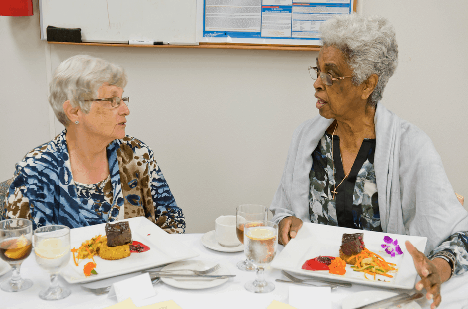 residents at the chef's table