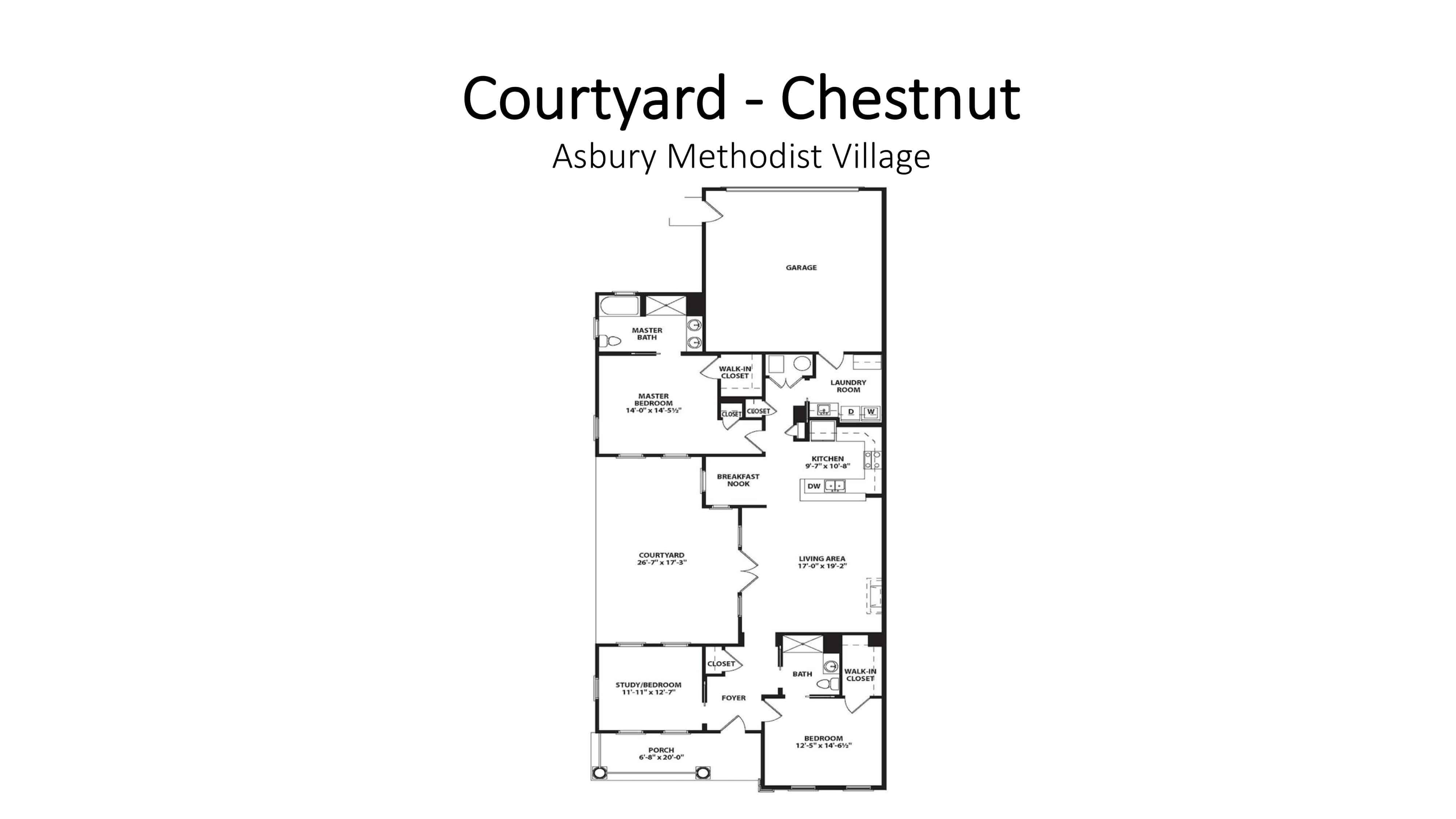 Asbury Methodist Village Courtyard - Chestnut