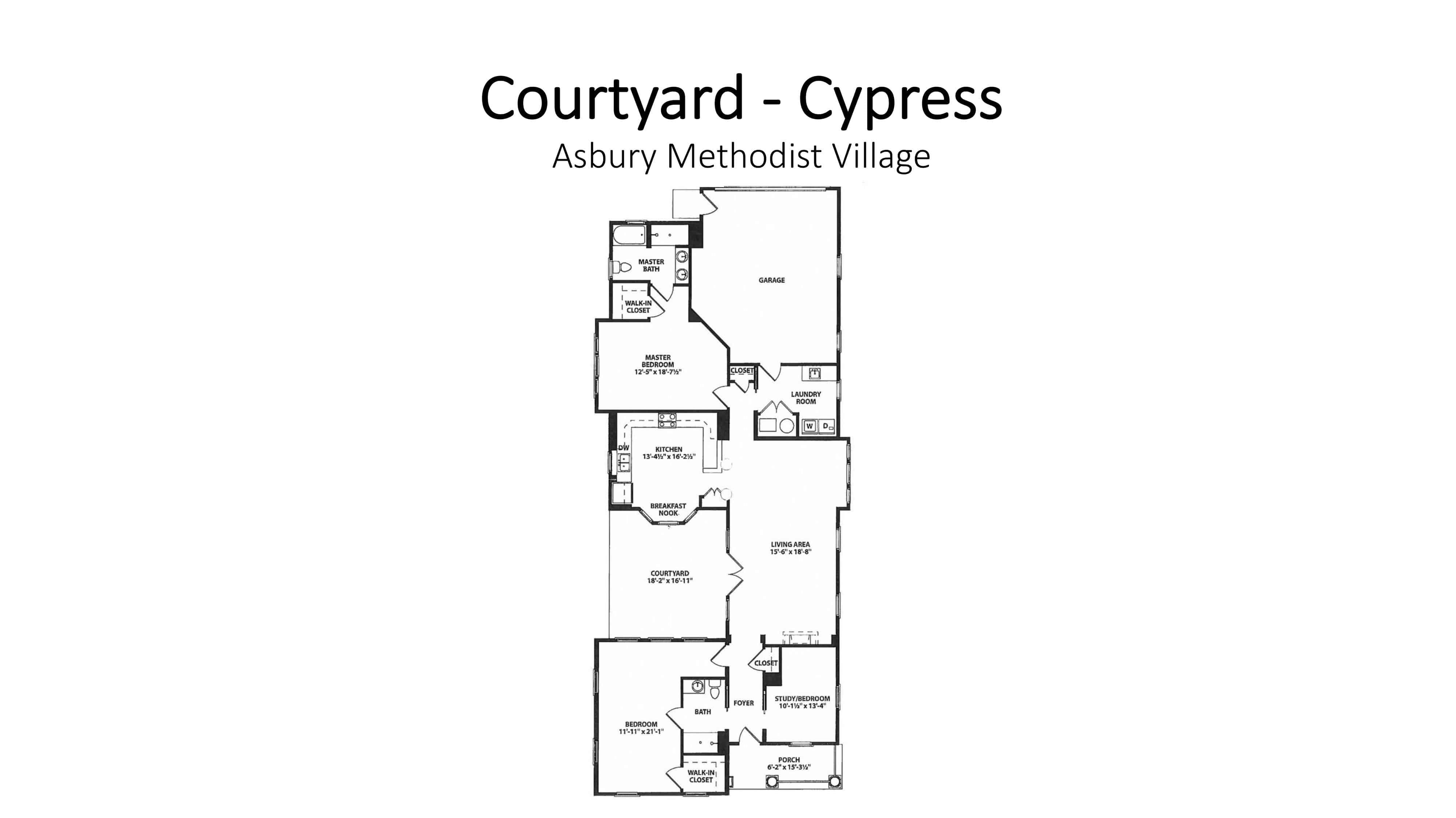 Asbury Methodist Village Courtyard - Cypress