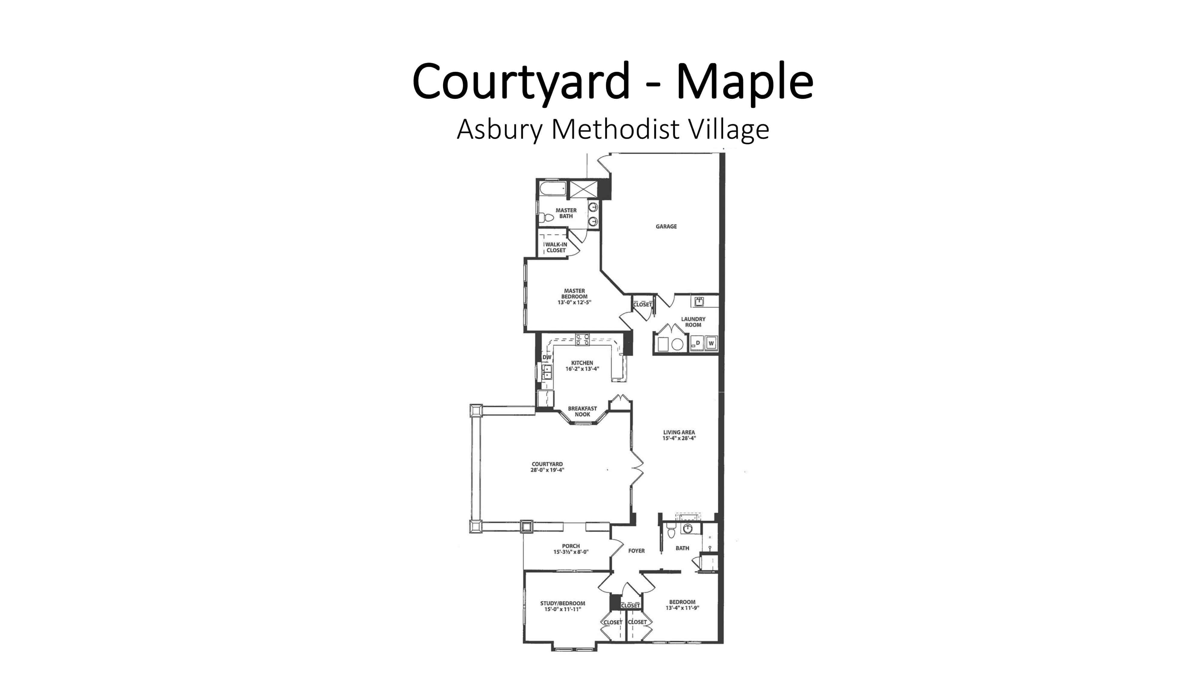 Asbury Methodist Village Courtyard - Maple