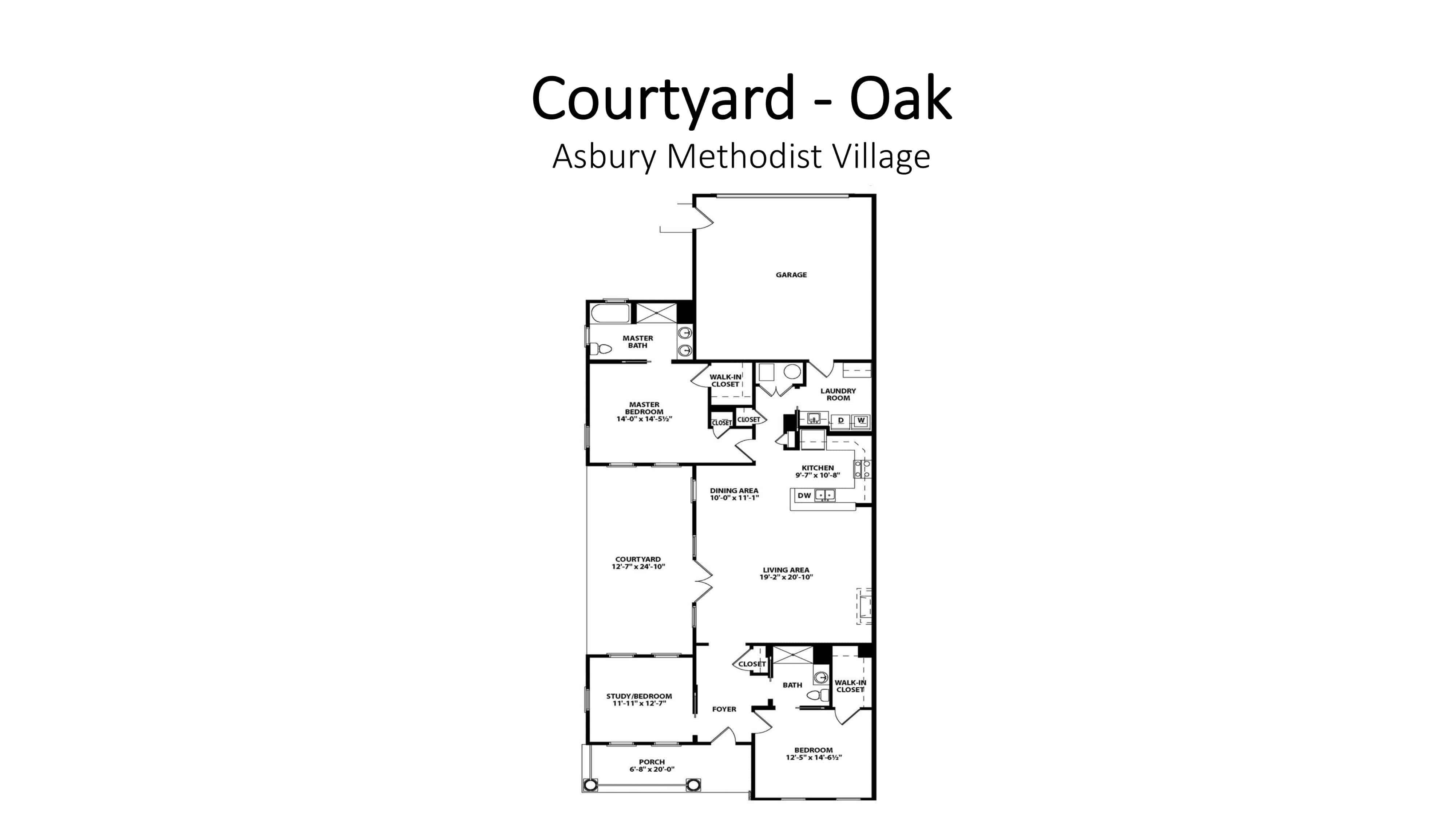 Asbury Methodist Village Courtyard - Oak
