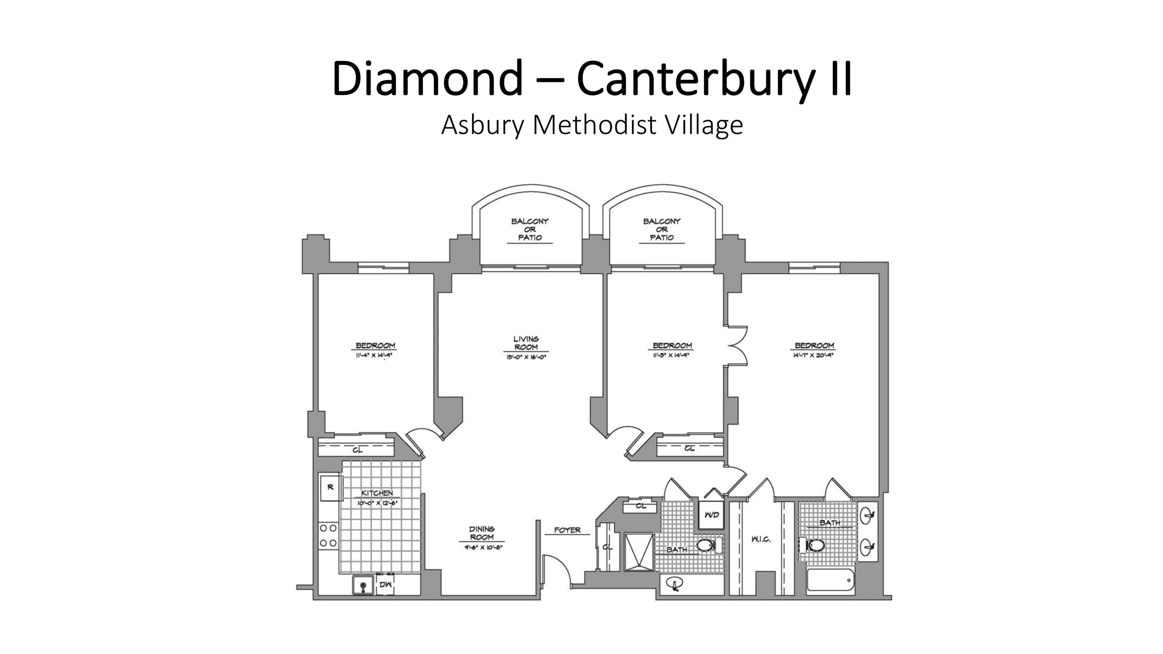Asbury Methodist Village Diamond - Canterbury II