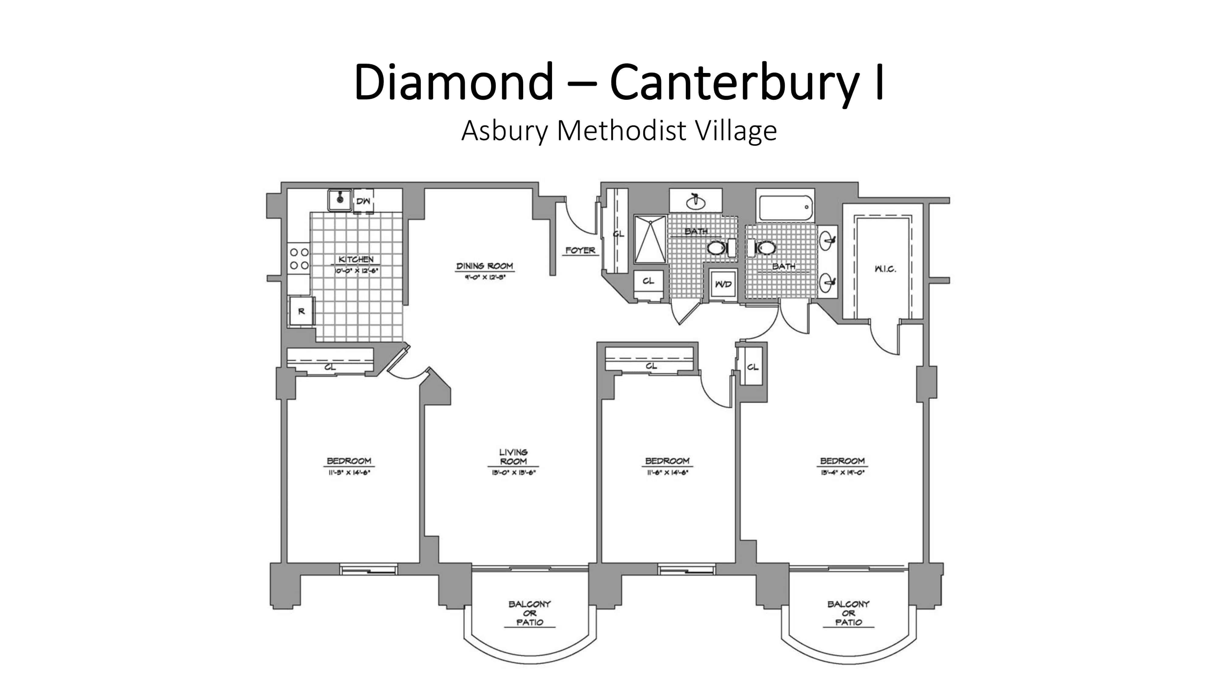 Asbury Methodist Village Diamond - Canterbury I