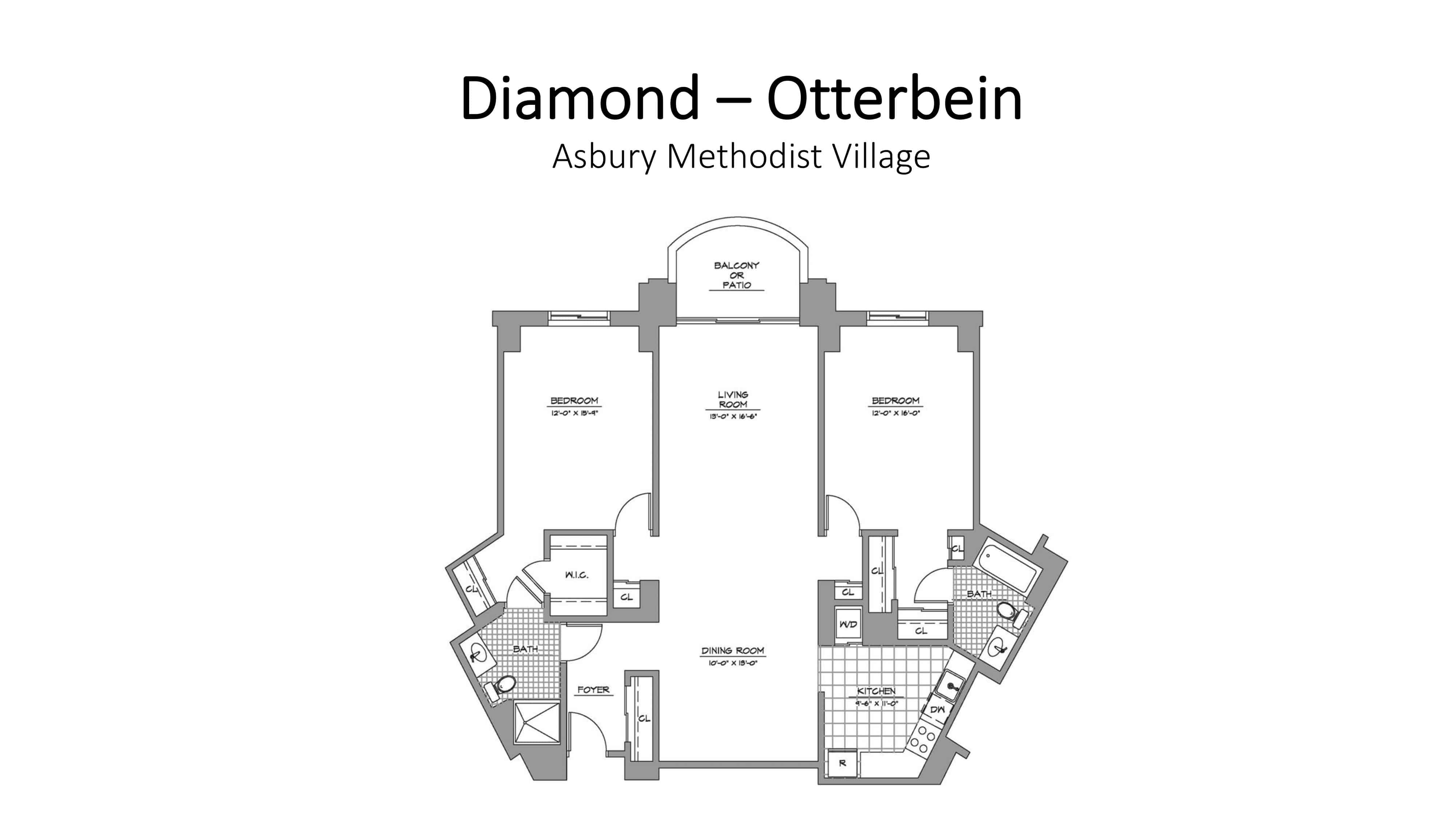 Asbury Methodist Village Diamond - Otterbein