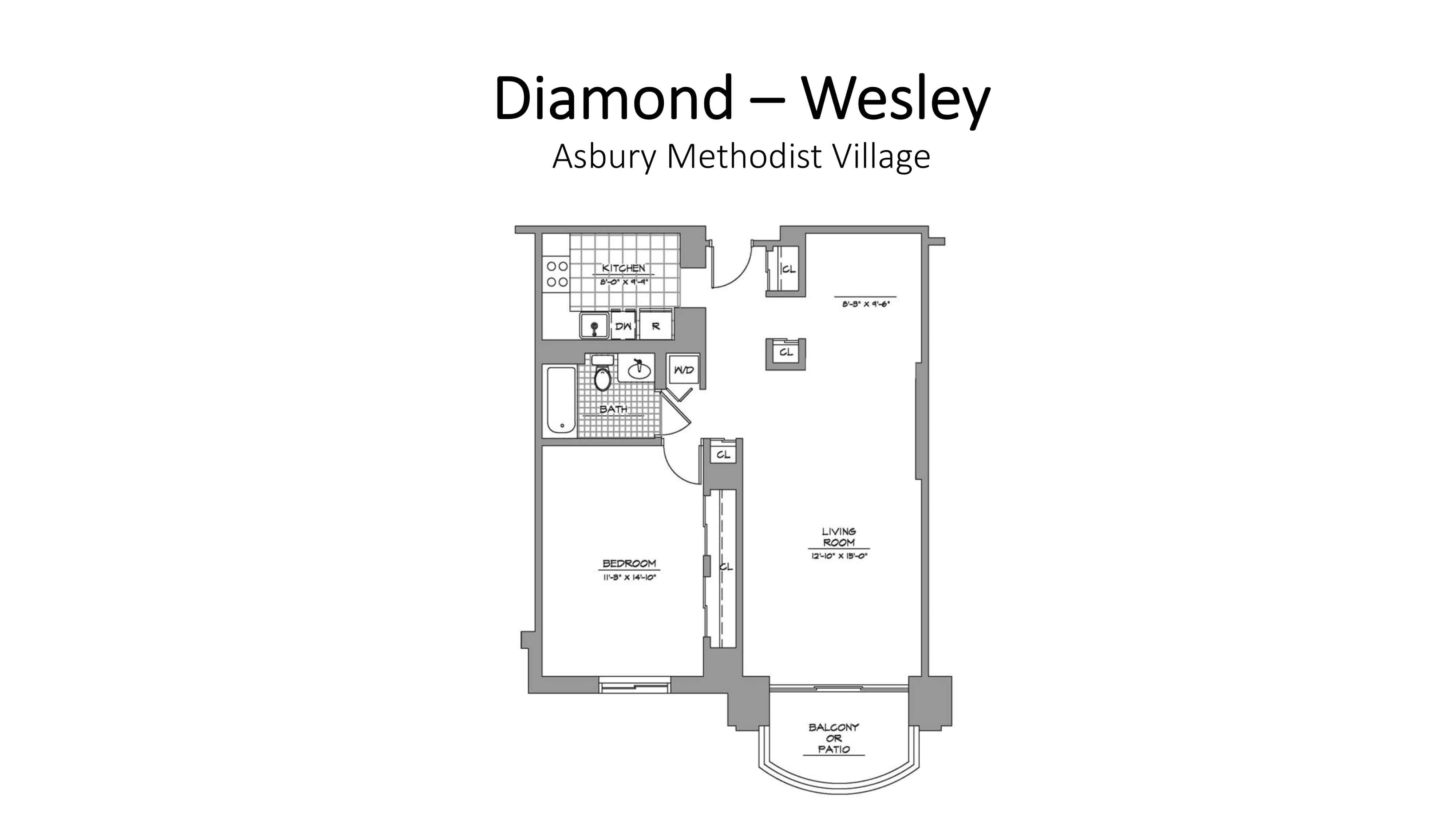 Asbury Methodist Village Diamond - Wesley