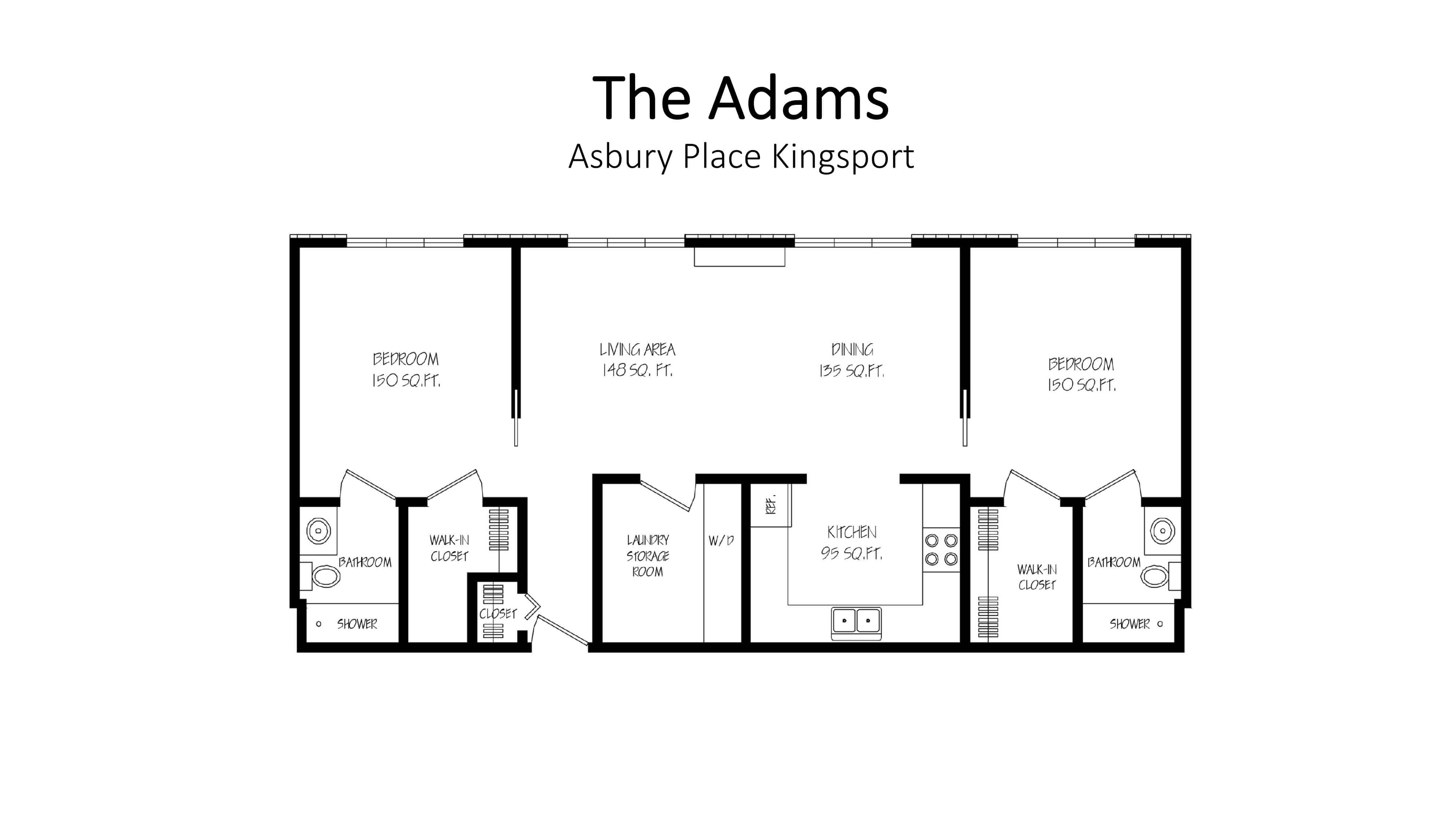Asbury Place Kingsport The Adams Floorplan
