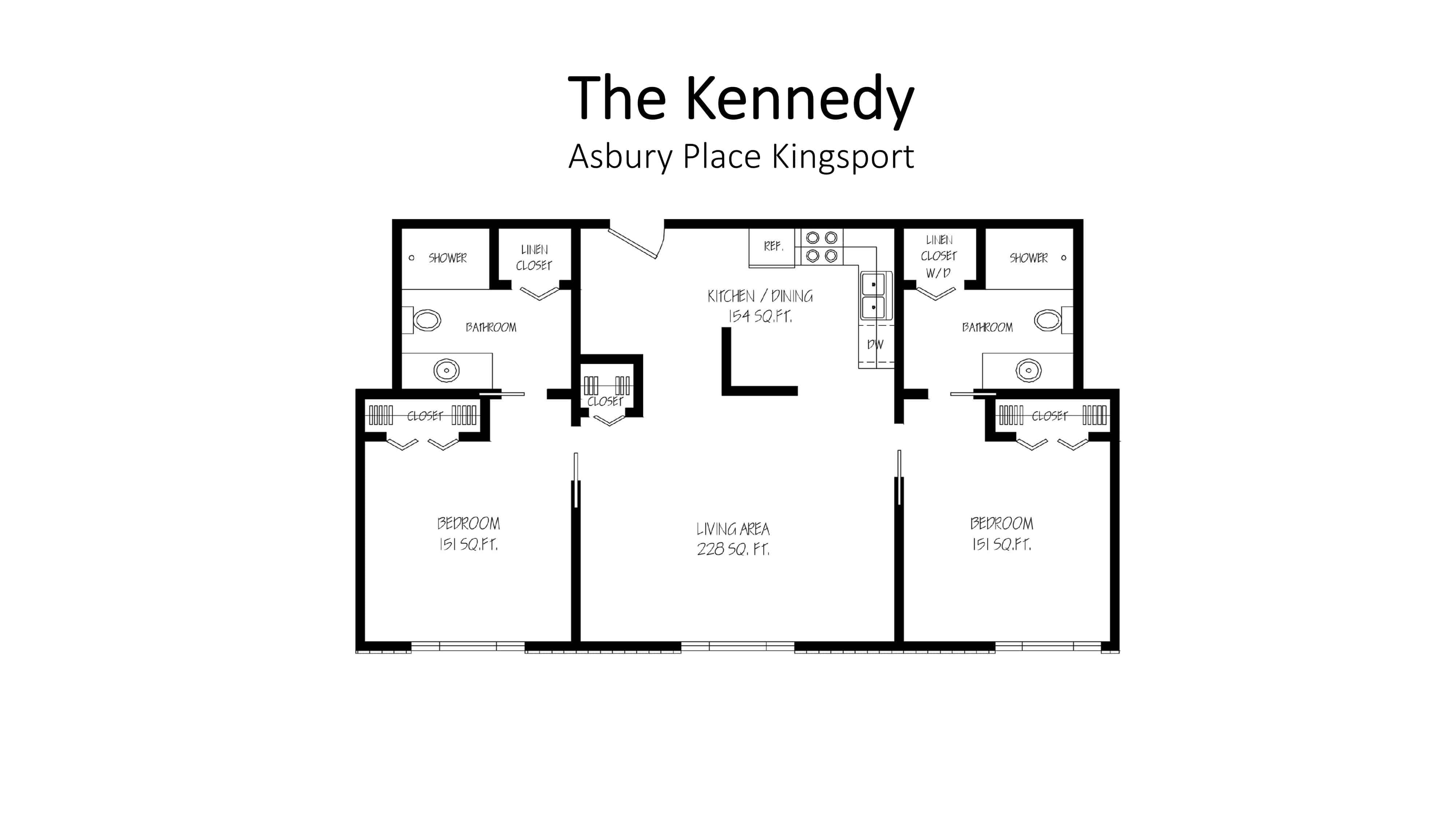 Asbury Place Kingsport The Kennedy Floorplan