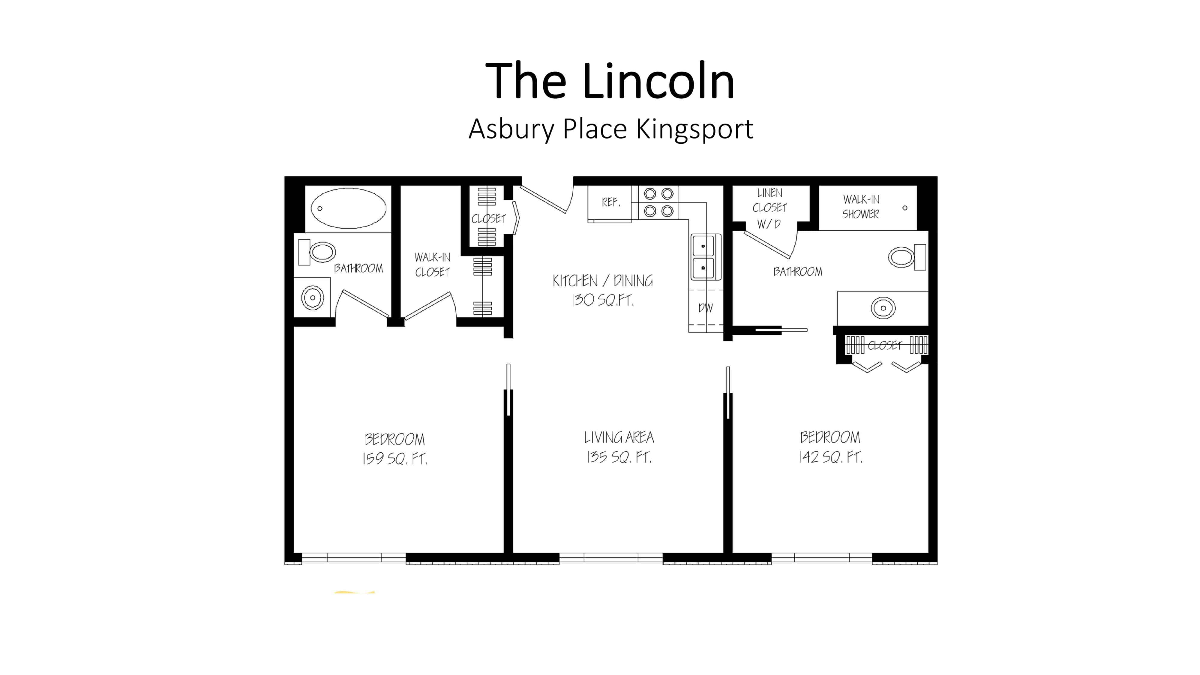 Asbury Place Kingsport The Lincoln Floorplan