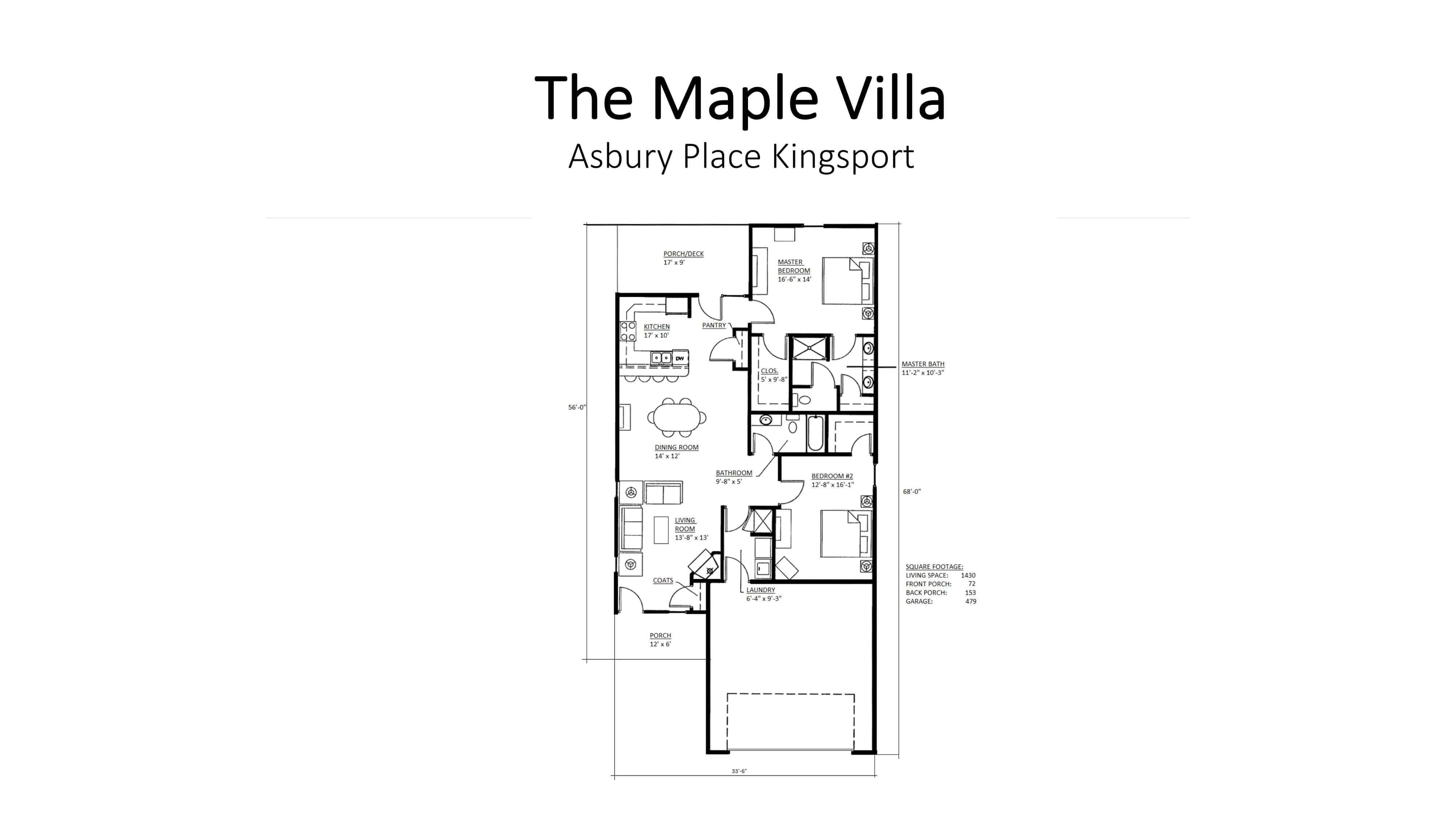 Asbury Place Kingsport The Maple Villa Floorplan