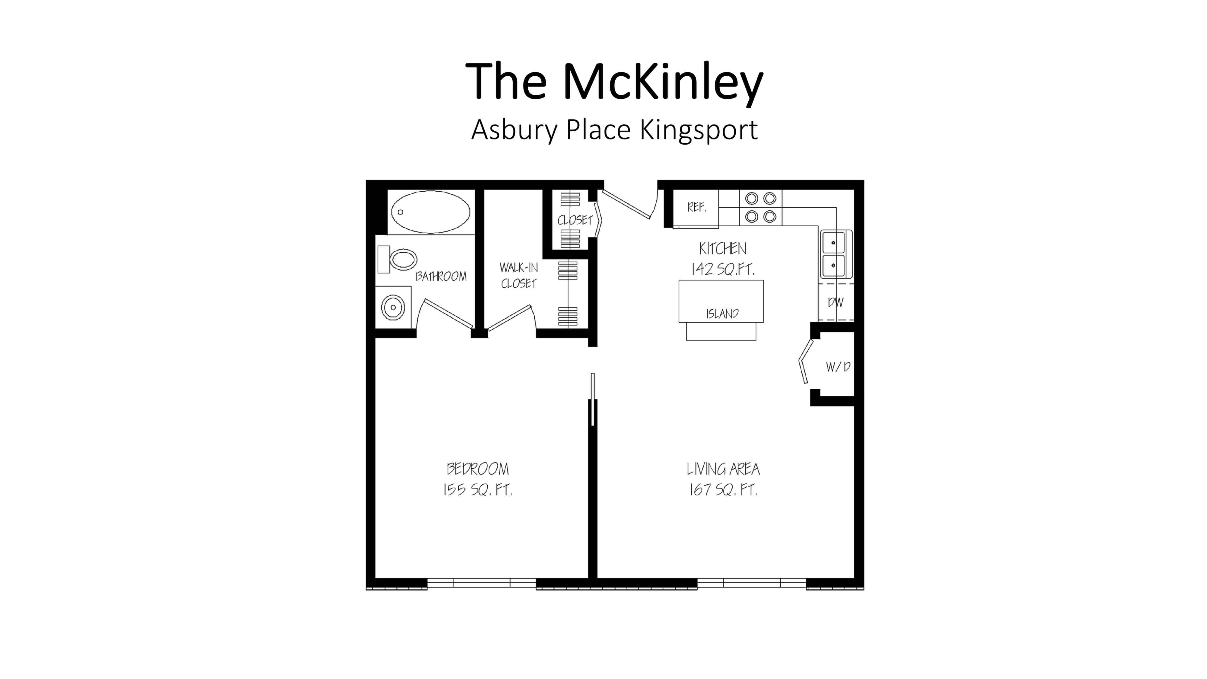 Asbury Place Kingsport The McKinley Floorplan