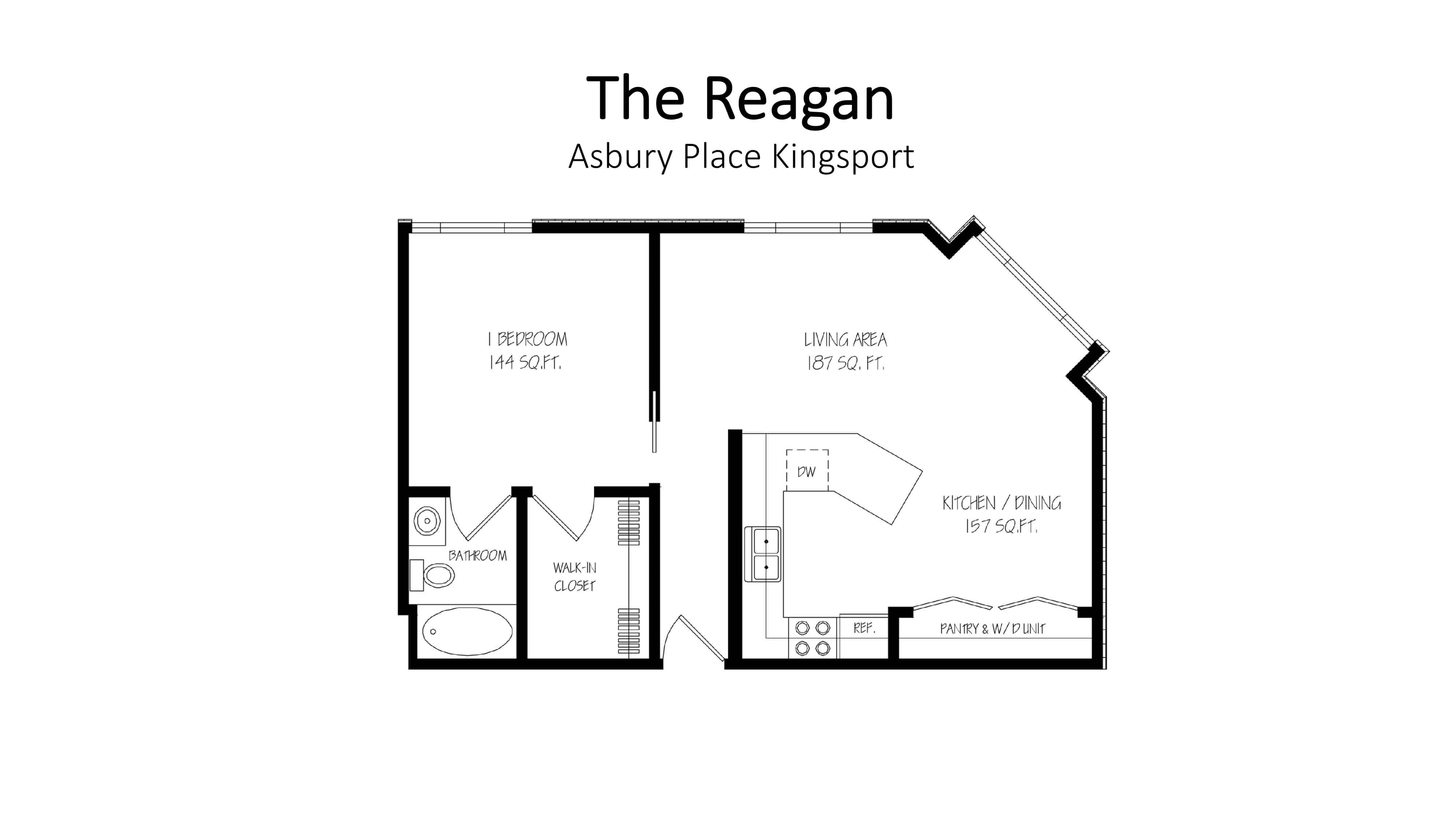 Asbury Place Kingsport The Reagan Floorplan
