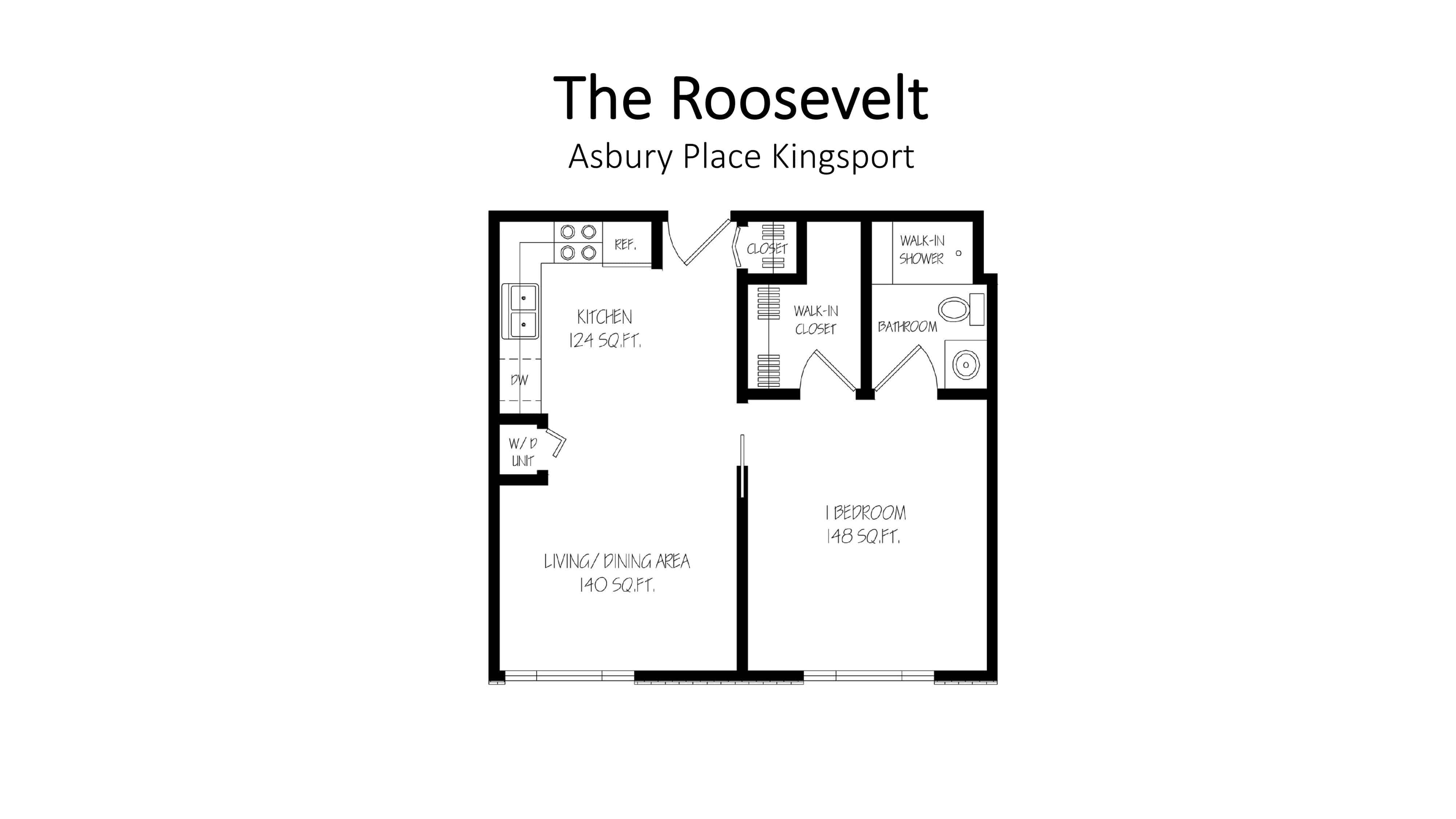 Asbury Place Kingsport The Roosevelt Floorplan