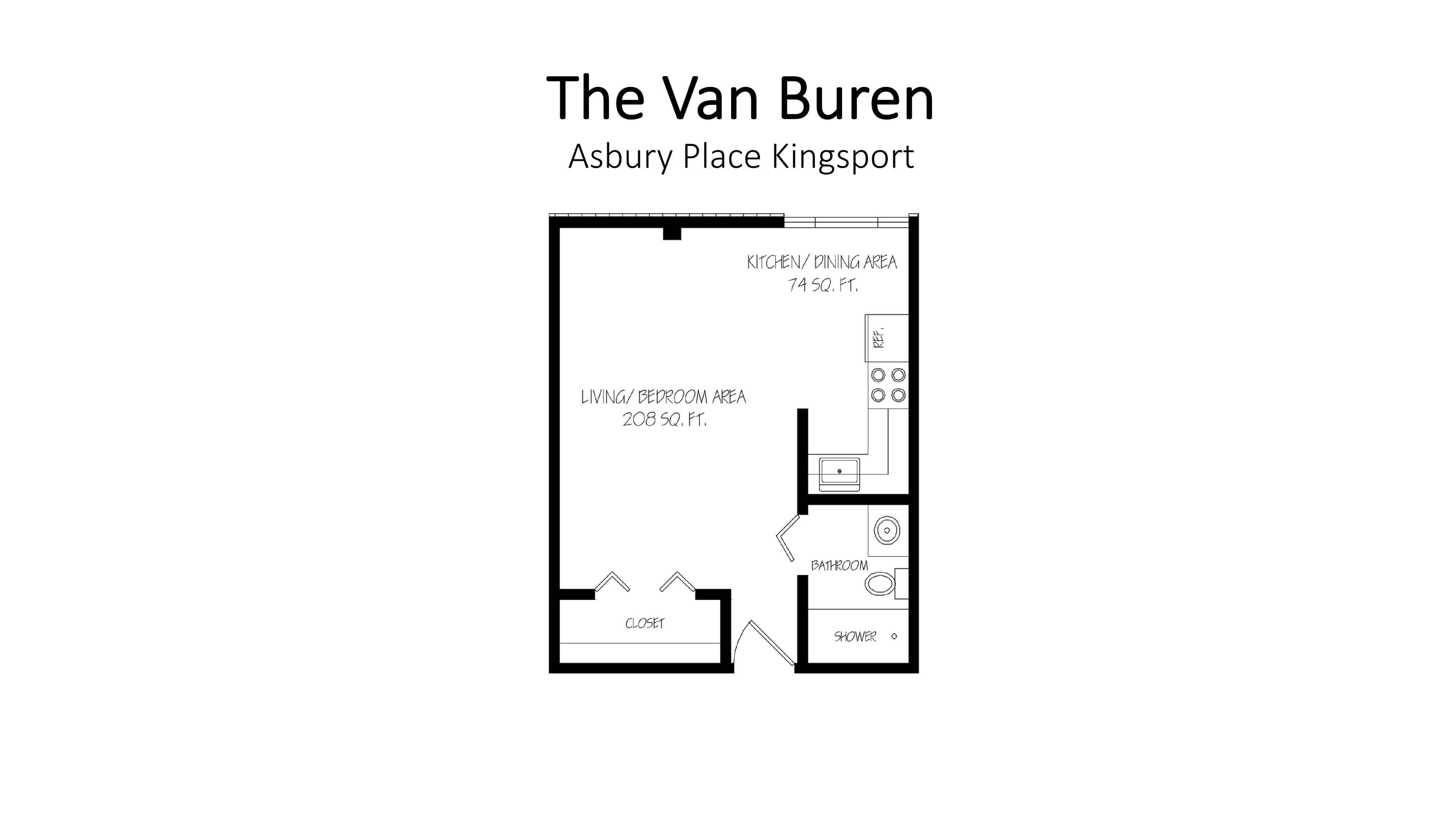 Asbury Place Kingsport The Van Buren Floorplan