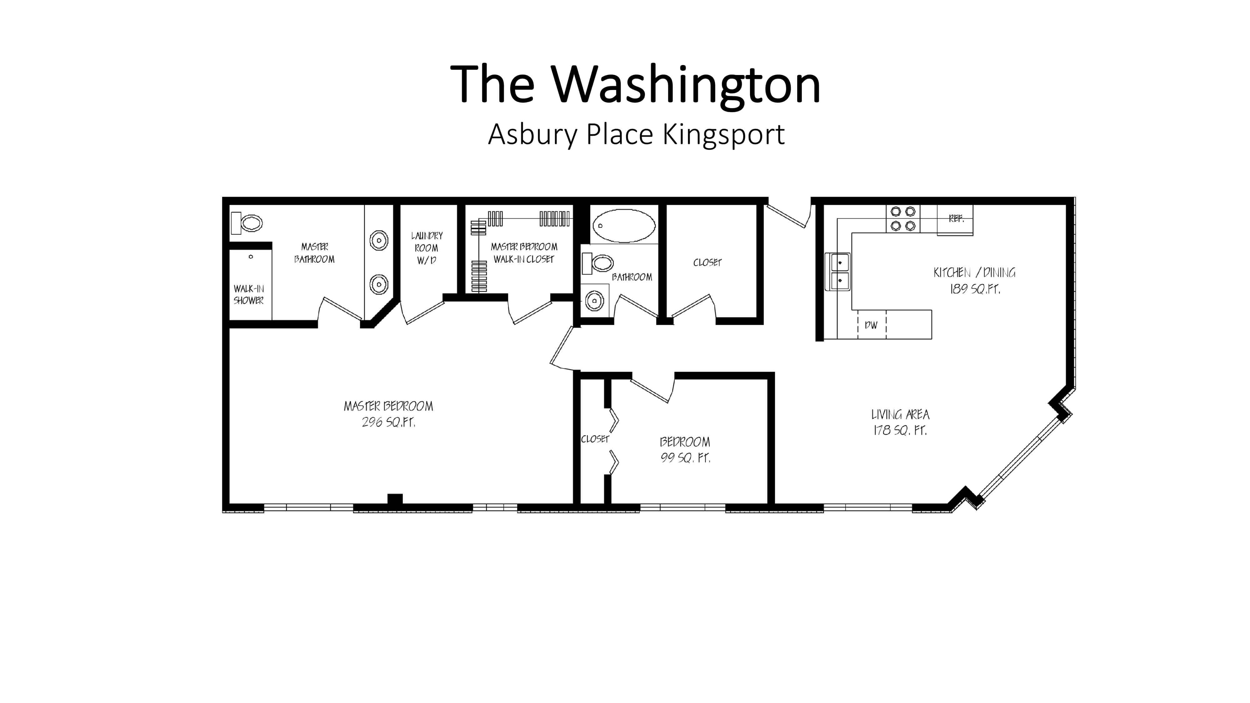 Asbury Place Kingsport The Washington Floorplan
