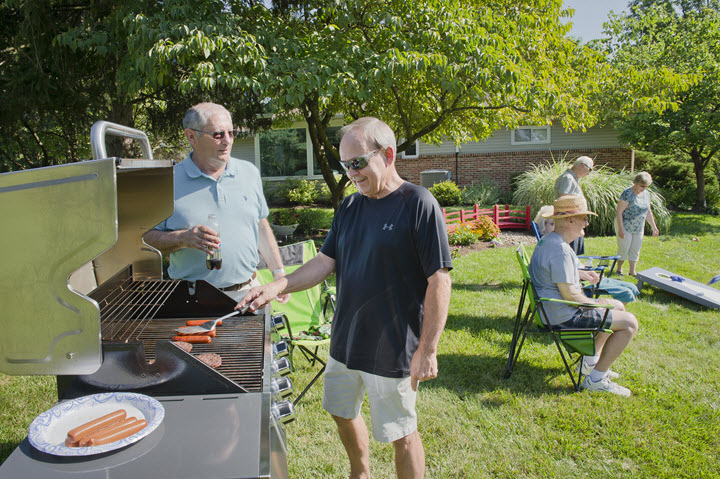 Bethany Village east cookout
