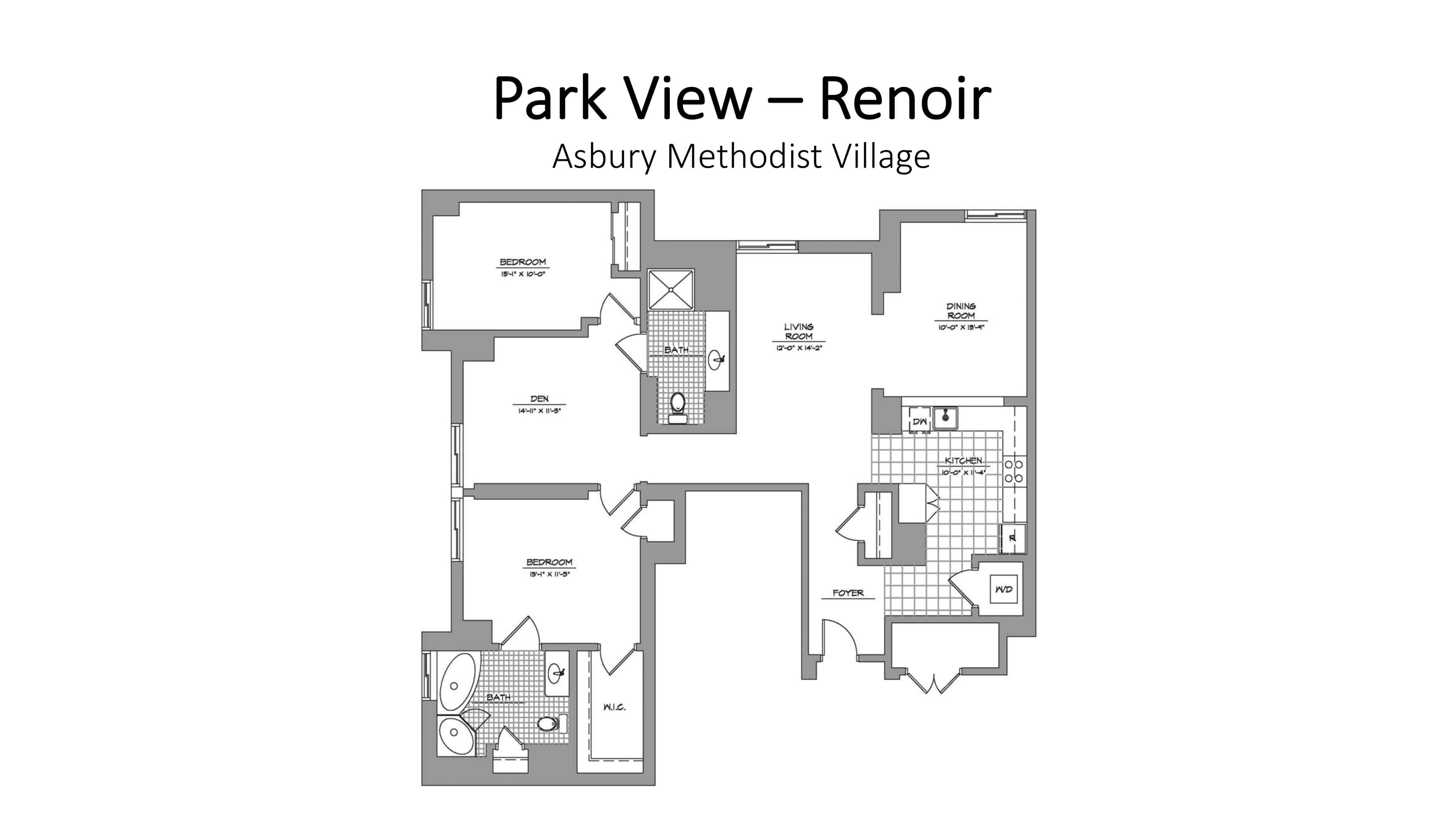 park view renoir floor plan