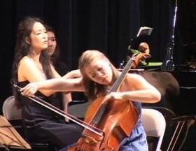 Alicia Ward, cello, and Kimberly Kong, piano