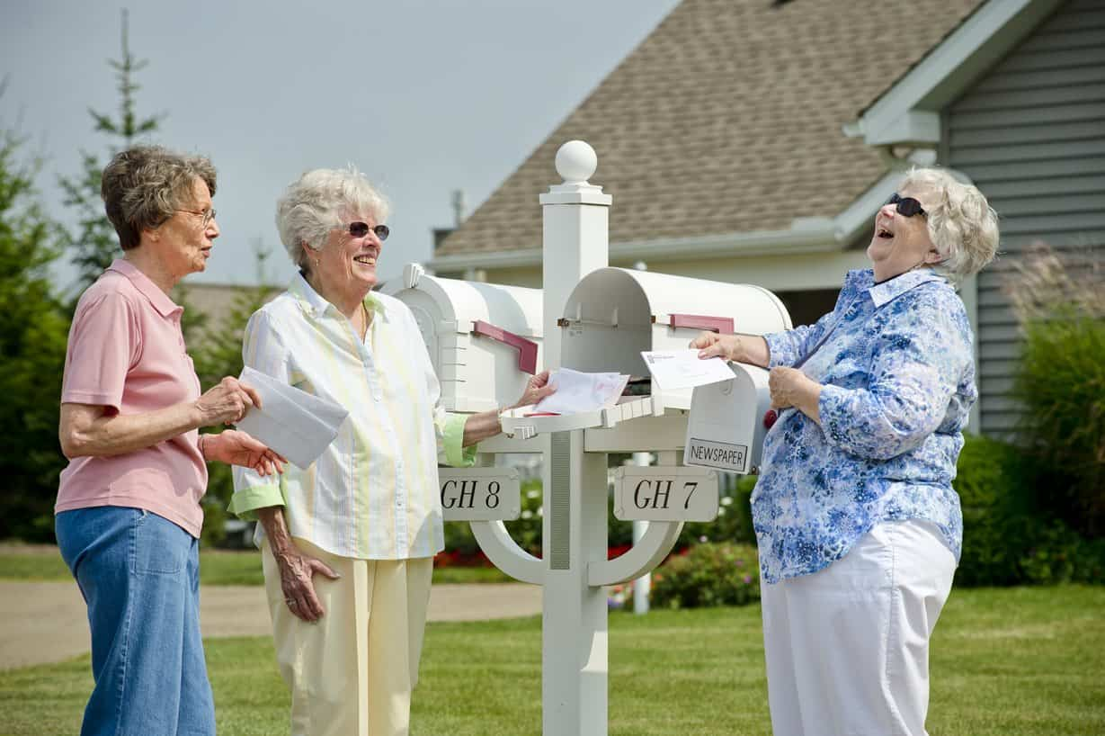 seniors getting mail