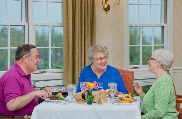 seniors eating
