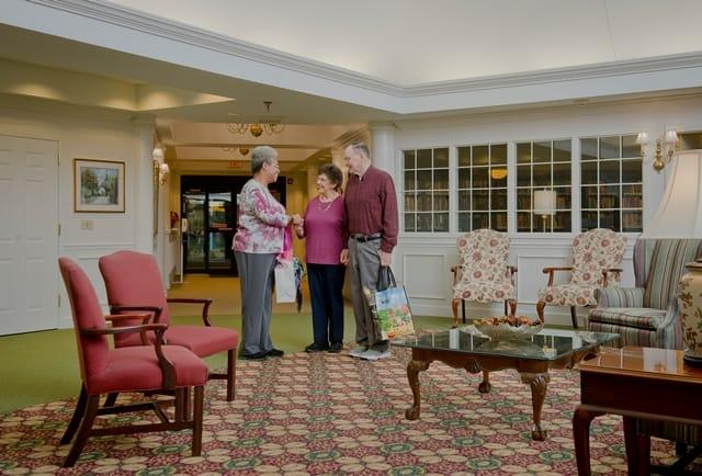 senior community lobby