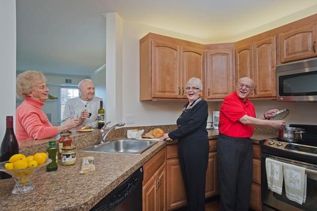 seniors hosting friends