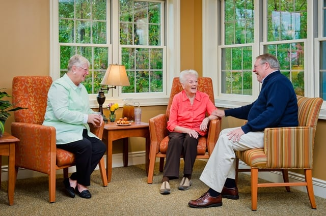 seniors chatting