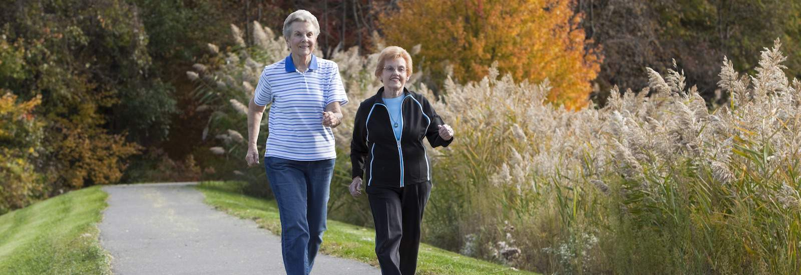 residents walking the trails