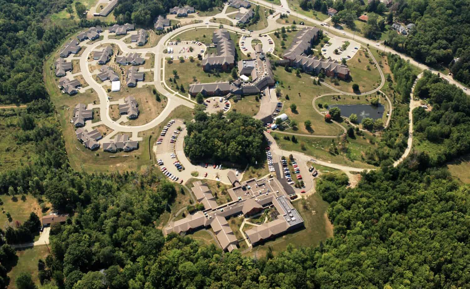 2012 Aerial photos of Springhill campus