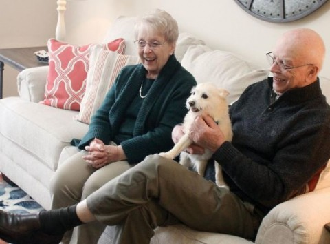 residents and their dog