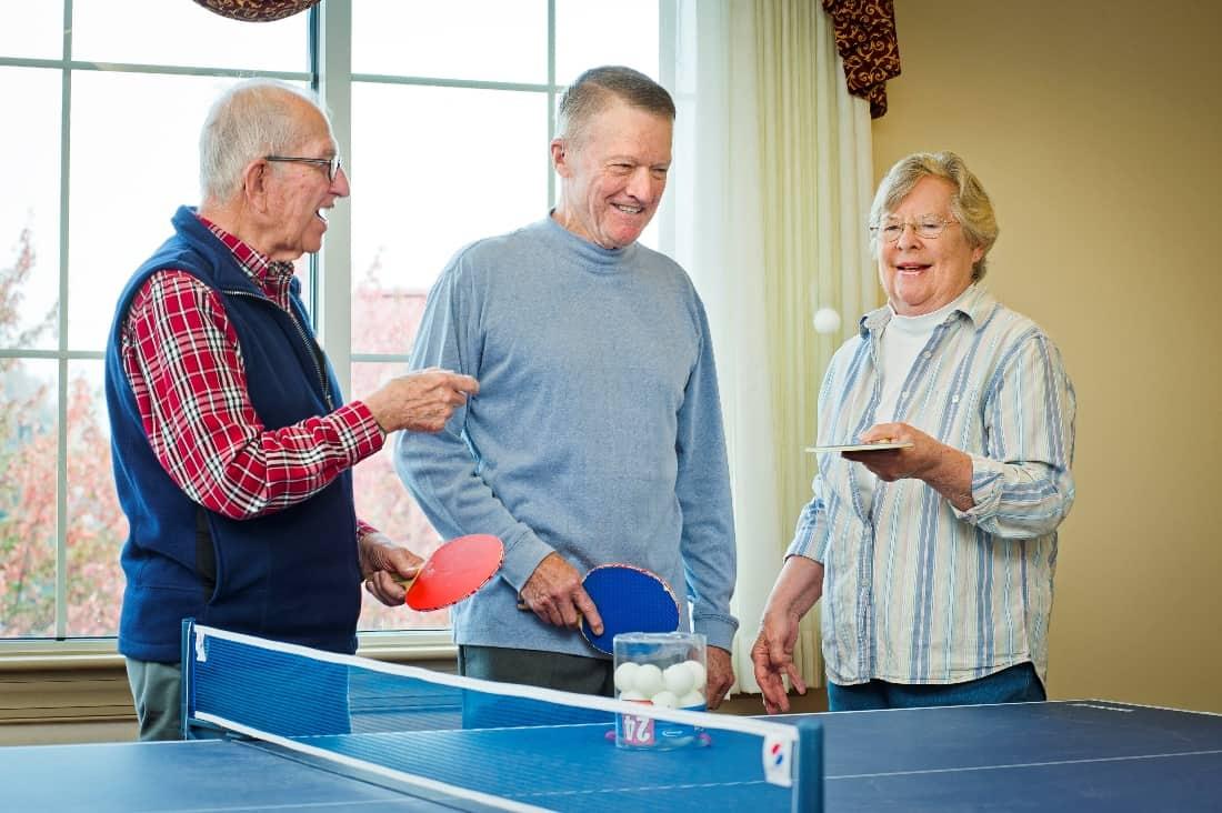 senior ping pong