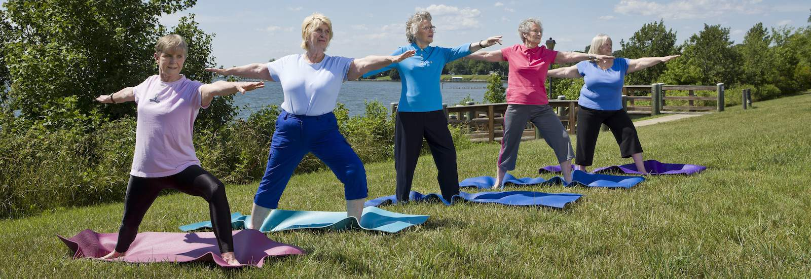 residents doing yoga