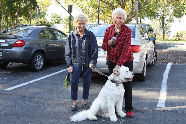 residents and dog