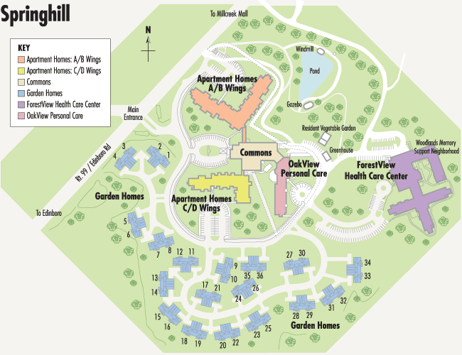 springhill campus map