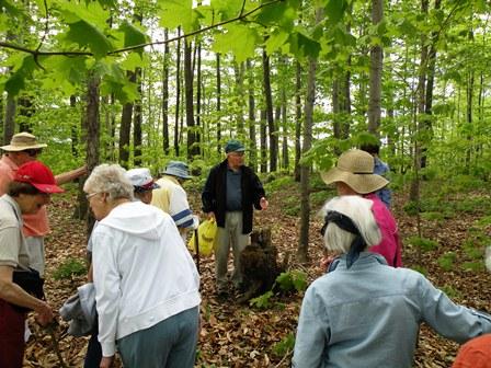 seniors in woods