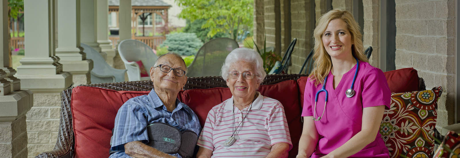 caregiver with residents