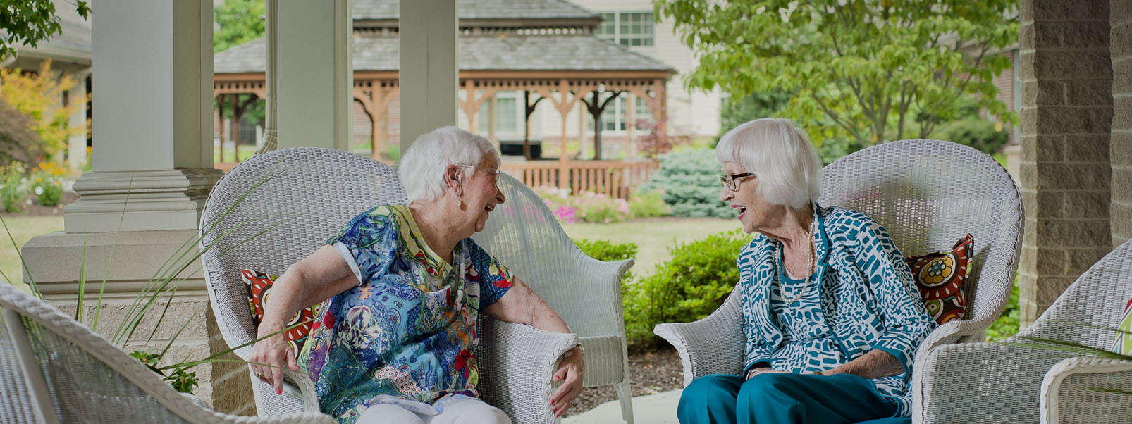 two seniors talking