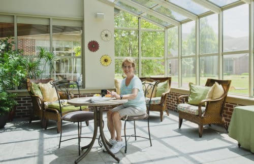 Bethany village sunroom