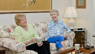 residents relaxing together