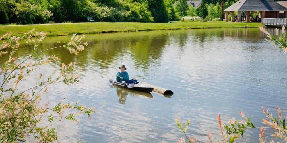 Resident enjoying fishing at Maryville