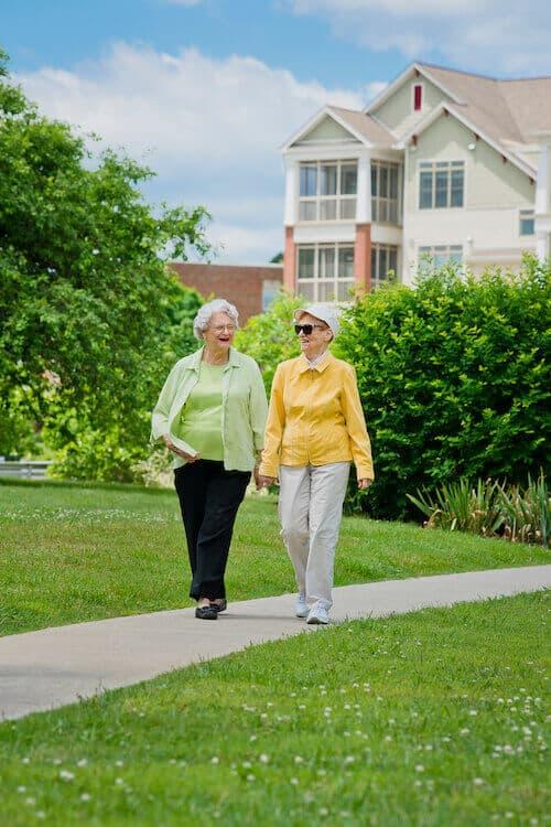 Residents walking through Maryville
