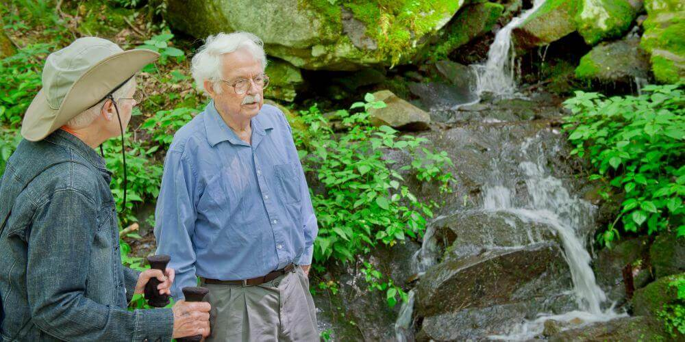 residents hiking the many trails at maryville