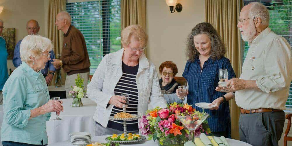 residents enjoying happy hour at Maryville