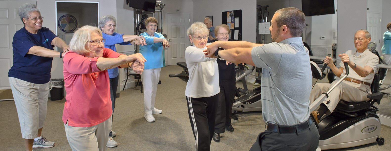 senior living fitness class
