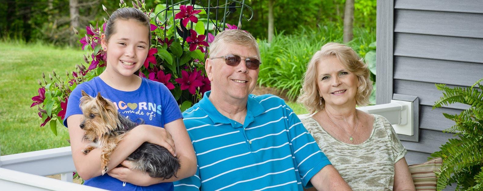 senior with grandkid