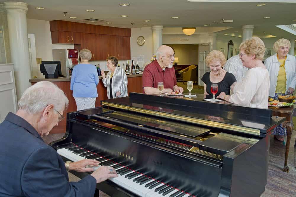 senior living get together