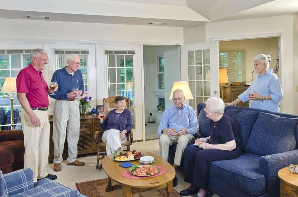 senior living socializing