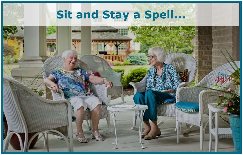 seniors sitting