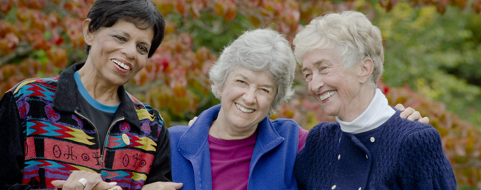seniors smiling