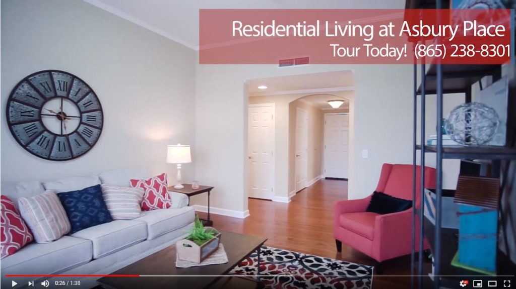 video of residential living at Asbury Place